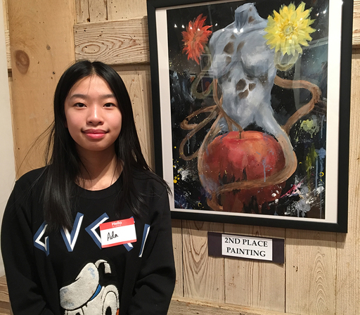 Students featured in art exhibition