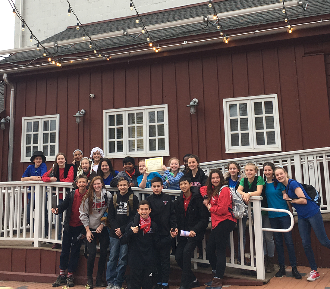 Middle School play cast visits Theatre Festival