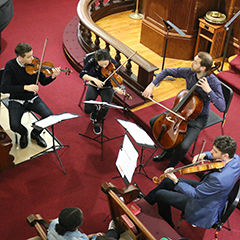 String Quartet performs for School
