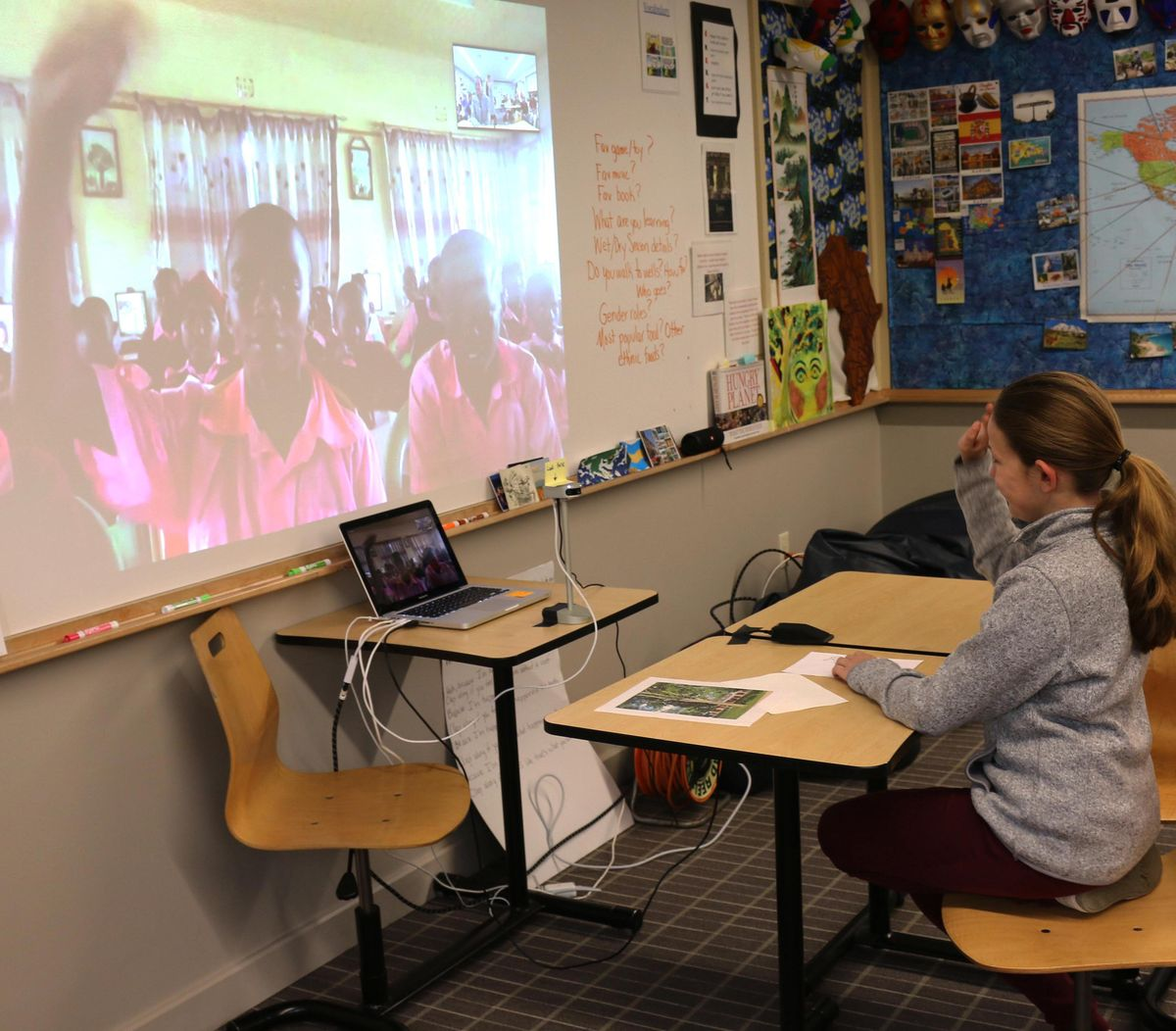 Sixth-graders reconnect with students in Kenya