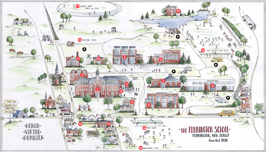Salem College Campus Map.Visitors Guide The Pennington School