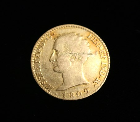 A coin depicting Joseph Bonaparte.