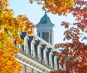 Pennington's cupola in fall colors