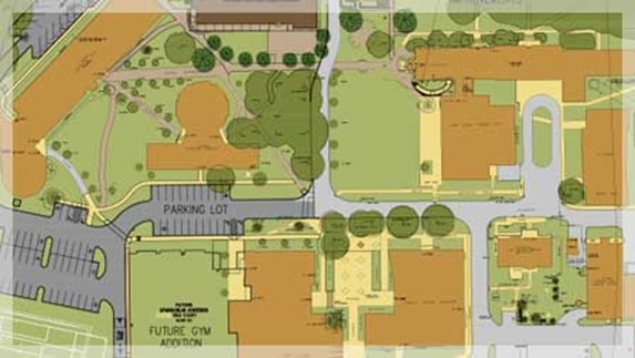 Map of campus and construction plans
